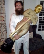 Oscar Award Winner and Oscar Trophy Homemade Costume
