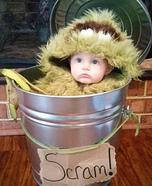 DIY Oscar the Grouch Baby Costume