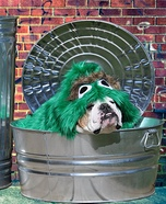Oscar the Grouch Dog Homemade Costume