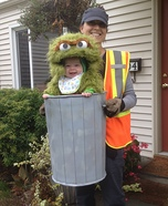 Parent and baby costume ideas - Oscar the Not-so-Grouchy Grouch Costume