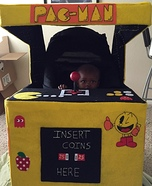 Pac-Man Arcade with Pac-Man Homemade Costume