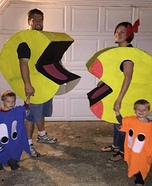 Pac-Man Family Homemade Costume