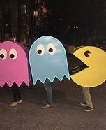 Pac-Man Family Homemade Costume