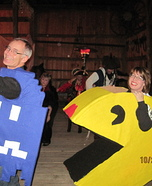 Ms. Pac Man and the Blue Ghost Costume