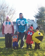 Pac Man and Ghosts Costume