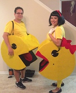 Pacman Couple Homemade Costume