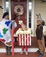 Painter, Popcorn and a Snail Homemade Costume