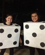 Homemade Dice Costumes