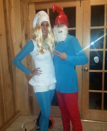 Papa Smurf and Smurfette Homemade Costume