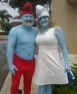 Papa Smurf & Smurfette Homemade Costume