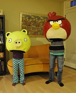 Homemade Angry Birds Costume Ideas