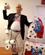 Paper Towel Throwing Donald Trump Homemade Costume