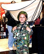Soldier with a Parachute Costume