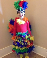 Parrot Girl Homemade Costume