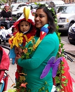 Parrot in a Tree Mom and Baby Costume