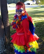 Parrott Girl Homemade Costume