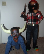 Paul Bunyan and the Blue Ox homemade costume