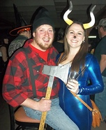 Paul Bunyan and his Babe the Blue Ox Homemade Costume