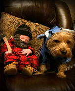 Paul Bunyan and his Ox Babe Homemade Costume
