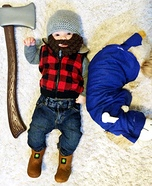 Paul Bunyan & Babe the Blue Ox Homemade Costumes