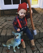 Paul Bunyan & Babe the Blue Ox Homemade Costume