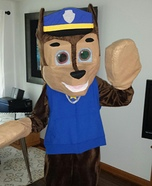 Homemade Paw Patrol Chase Costume