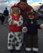 Paw Patrol Chase and Marshall Homemade Costumes