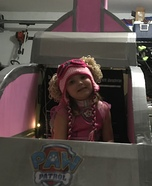 Paw Patrol Skye flying in her Helicopter Homemade Costume