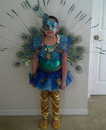 DIY Peacock Girl's Costume Idea