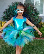 Homemade Peacock Costume for Girl