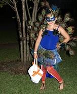 Homemade Peacock Costume for Girls