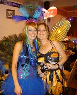 Peacock and Butterfly Homemade Costumes