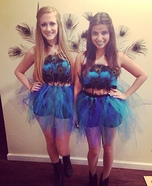 Homemade Peacock Costumes