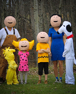 Peanut Family Homemade Costume