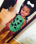 Pebbles Homemade Costume