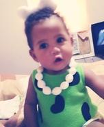 Easy DIY Pebbles Baby Costume