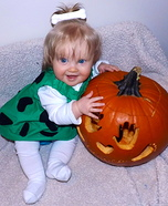 Pebbles Flintstone Homemade Costume