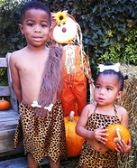 Homemade Pebbles & Bam Bam Costumes
