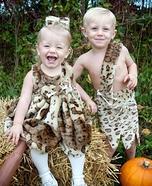 Pebbles & BamBam Homemade Costume