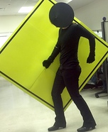 Pedestrian Crossing Sign Homemade Costume