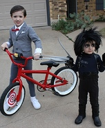 Pee-Wee and Edward Scissorhands Homemade Costumes