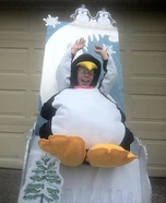 Penguin on a Hill Homemade Costume
