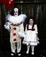 Pennywise and Annabelle Homemade Costume