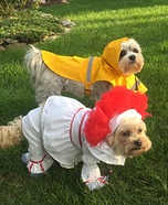 Pennywise and Georgie Dogs Homemade Costume