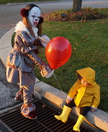Pennywise and Georgie Kids Homemade Costume