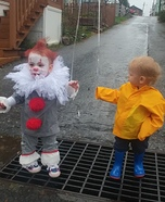 Pennywise and Georgie Twins Homemade Costume