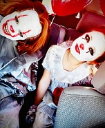 Pennywise Girl and Boy Homemade Costume