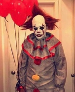 Pennywise the Dancing Clown IT Homemade Costume