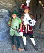 Peter Pan and Captain Hook Homemade Costume