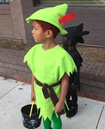 Peter Pan and his Shadow Child Costumes